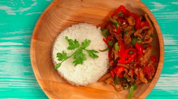 Лазджи сяй - курица с овощами.