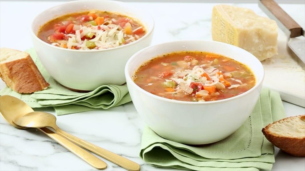 Рецепт Минестроне - классический  овощной итальянский суп