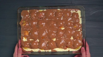 выпекание пирога с абрикосами
