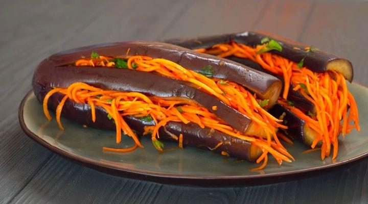 Рецепт быстрого приготовления баклажан по-корейски