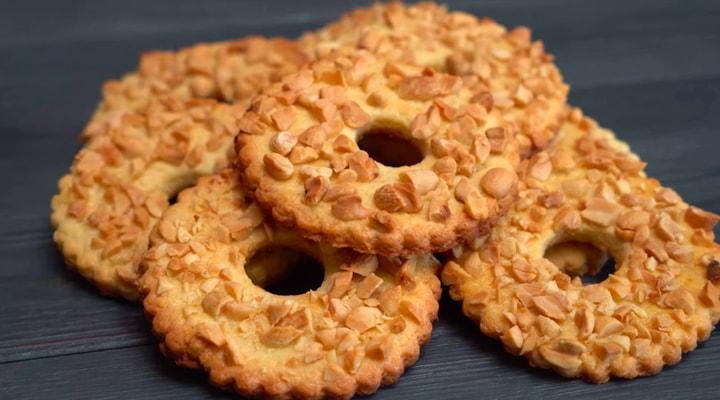Рецепт песочных колечек с арахисом как в детстве