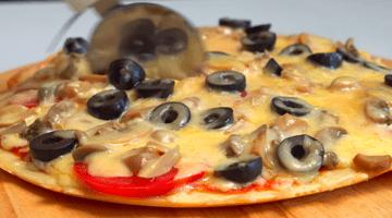 Разделанная пицца