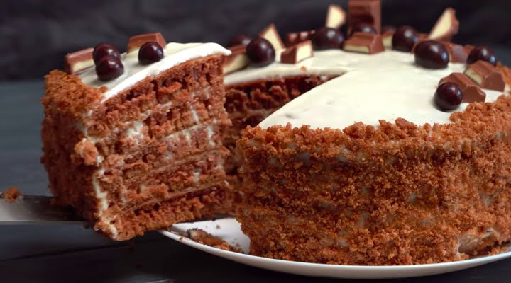 Рецепт Шоколадного торта жареного на сковороде